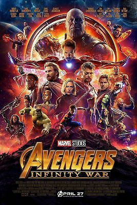 Avengers Infinity War | LARGE 24X36 MOVIE POSTER |Premium Poster Paper