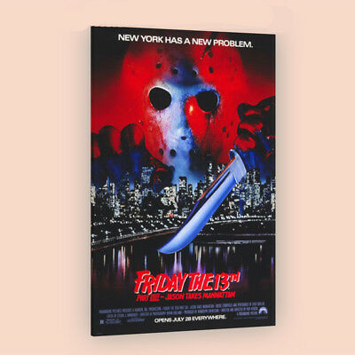 Friday the 13th Part 8 | LARGE 24X36 MOVIE POSTER |Premium Poster Paper