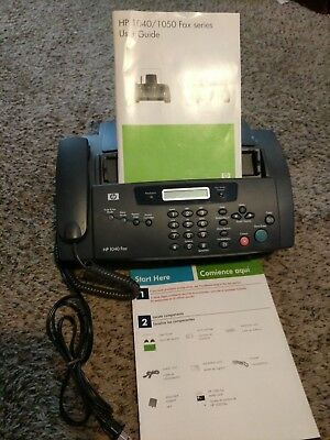 HP 1040 fax machine with ink cartridge, print, scan/fax, copy, telephone