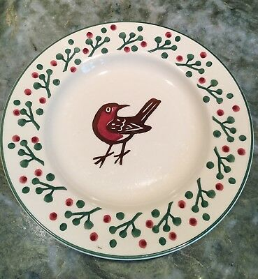 """Emma Bridgewater Robyn and Berries 8 1/2"""" Luncheon Plate"""