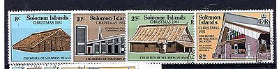 Solomon Islands (878) 1981 Christmas..Churches set Used  Sg452-5