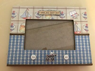 Darling Baby Boy Picture Frame  - EUC