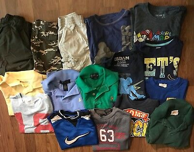 boys summer play clothes shorts tees Sz 4T/5T Lot Of 16 Old Navy Polo Nike