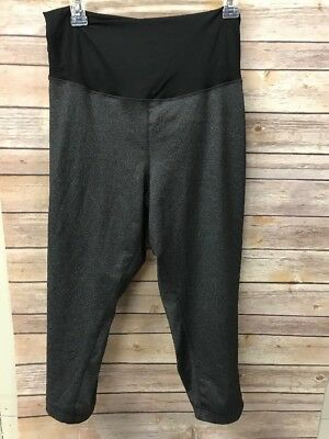 Ingrid Isabel Maternity Gray Capri Leggings Nwot Crossover Panel Xxl 2x 2xl