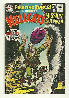 Our Fighting Forces (1954) #113 1st Print DC War Comic Lt. Hunter's Hellcats VG!