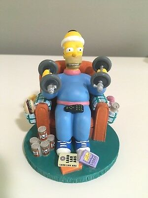 """The Simpsons """" Mr Fitness"""" Misadventures Of Homer Sculpture Hamilton Collection"""