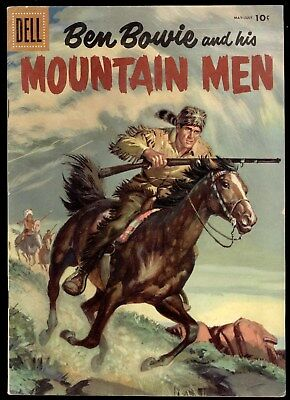 Ben Bowie And His Mountain Men (1952) #7 1st Print Dell Nice Painted Cover Fine
