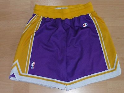 LA Lakers NBA Basketball Shorts Champion L Bryant, O'Neal, Magic Johnson lila