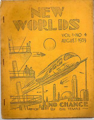 NEW WORLDS August 1939 (V1 No4) / John 'Ted' Carnell / science fiction fanzine