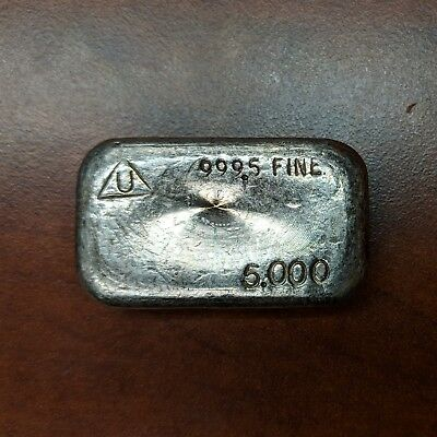 Rare 5 Oz Delta Mint Silver Poured Silver Bar Ingot Loaf Vintage 5 Oz .9995 Fine