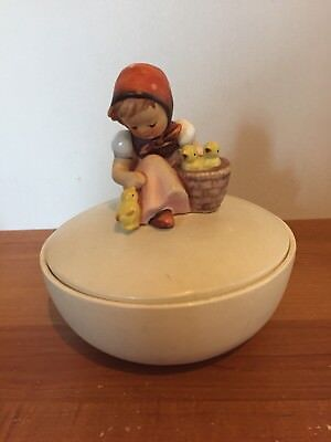 Hummel Chick Girl Covered Candy Dish Bowl w/Lid - TMK-3