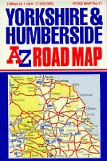 A. to Z. Road Map of Yorkshire and Humberside (A-Z 3 Miles to 1 Inch) ... | Book