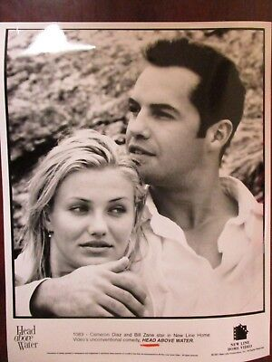 """Vintage Glossy Photo Cameron Diaz and Billy Zane in """"head Above Water"""""""