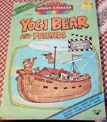 Vintage Yogi Bear and Friends Coloring Book 1977