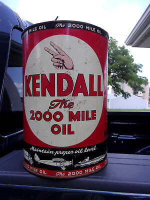 KENDALL Bradford PA MOTOR OIL Vintage 5 qt Can 50s & 60s