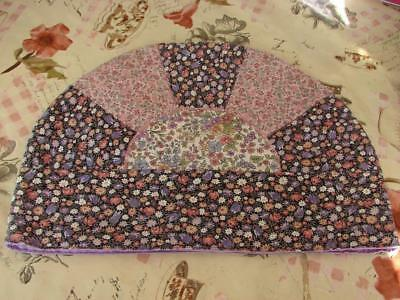 Vintage Patchwork Tea Cosy,Cover~1970s Small Flower Prints~13.5in x 9.5ins