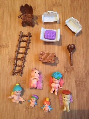 Vintage 1993 FAIRY WINKLES Collection Kenner Doll Figure Polly Pocket Style Set