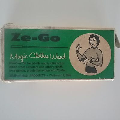 Vintage Ze-Go Magic Clothes Wand Zimmeram Products Laundry Aid