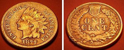 1877 Indian Head Penny, Coveted Key Date #E02