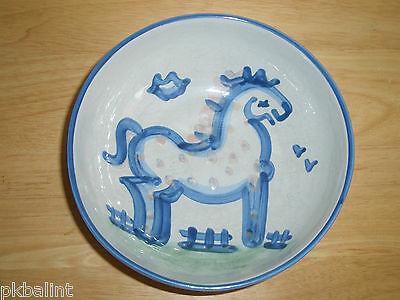 M A Hadley Horse Large Vegetable Bowl 8""