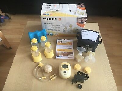 Medela Freestyle double electric breast pump with calma - excellent condition