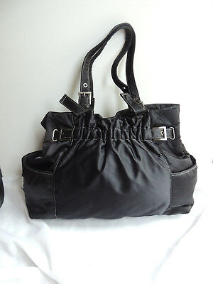 Kenneth Cole Reaction Hobo Purse Insulated Nylon Bag Snap Closure
