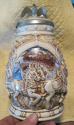 AVON STEIN - World Famous ANHEUSER BUSH CLYDESDALE HORSES - PEWTER EAGLE