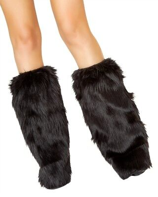 Black Standard Fluffies Leg Warmers