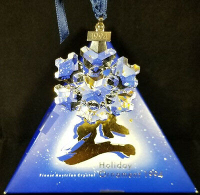 RARE- SWAROVSKI 1994 Crystal Annual Snowflake Ornament 181632 With Box