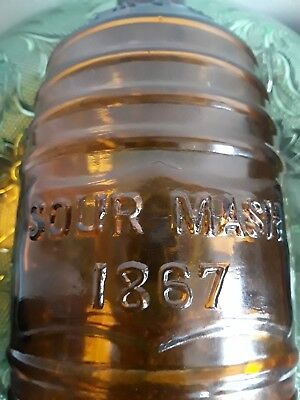 Whiskey Barrel Bottle 1867 Sour Mash Chapin & Core Chicago Amber