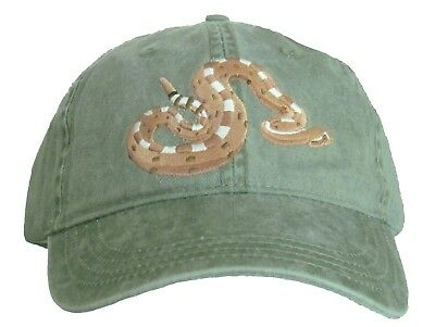 Sidewinder Embroidered Cotton Cap NEW Rattlesnake Hat
