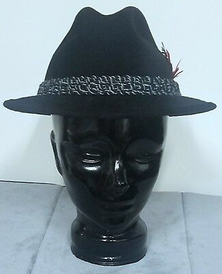 ... where can i buy the sovereign by stetson fedora felt hat black size 7 3  8 ... 7edfea502c10