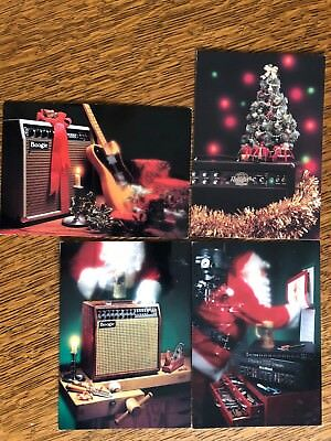 4 1990's Christmas Postcards, Mesa/Boogie CA! Season Greetings and Best Wishes!