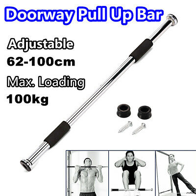 Body Fitness Door Chin Up Bar Home Gym Pull Up Sit Workout Exercise Adjustable
