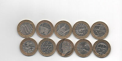 Collection of 10x GB commemorative £2 pound coins 2003-2013