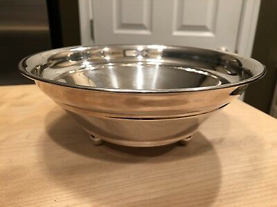 "Swid Powell Silver Plated Footed Bowl Made in Italy 9"" Robert AM Stern Signed"