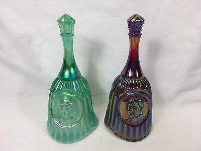 Two Fenton Carnival Bells For HOACGA 1985 and 1986