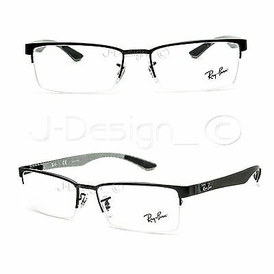 21a1411fbbf ... shop ray ban rb 8412 2503 carbon fiber black 54 17 145 eyeglasses demo  lens 2b682