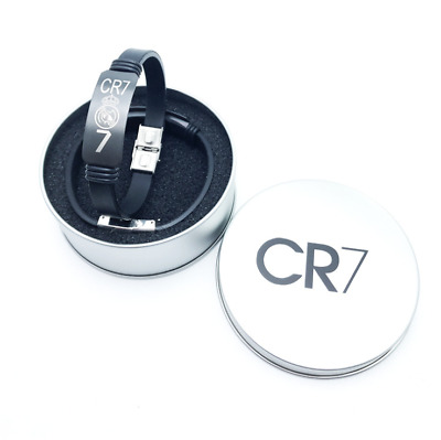 C Ronaldo/Messi/Neymar Football Wristband Rubber Stainless steel Bracelet