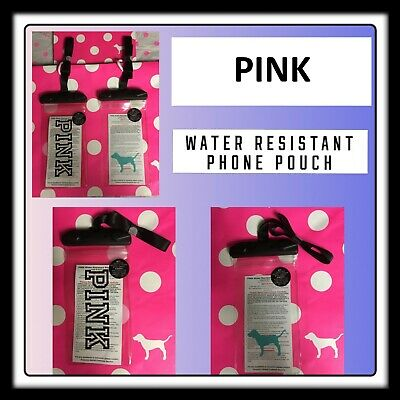 Victoria's Secret Pink Water Resistant Lanyard Phone Case Pouch Bag  U Choose
