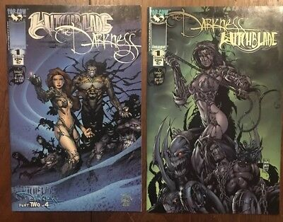 Witchblade The Darkness #1 Both Covers Top Cow Image Comic Comics