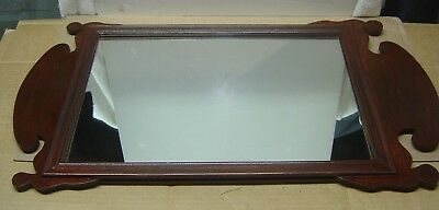 Vintage Chippendale Style Mahogany Mirror, Both Mirror and Wood Excellent Cond.