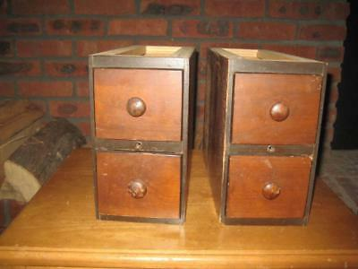 Singer Treadle Sewing Machine Drawers Two 2 Drawer Sets 1925    (C)