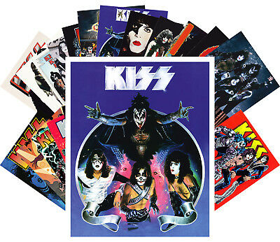 Postcards Pack [24 cards] Kiss Rock Group Vintage Posters Movies Comic CC1200
