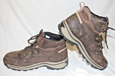 TIMBERLAND BOYS OR Men Brown Leather Hiking Boots 22913 Size