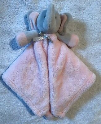 Blankets And Beyond Pink & Grey Elephant Security Blanket Lovey