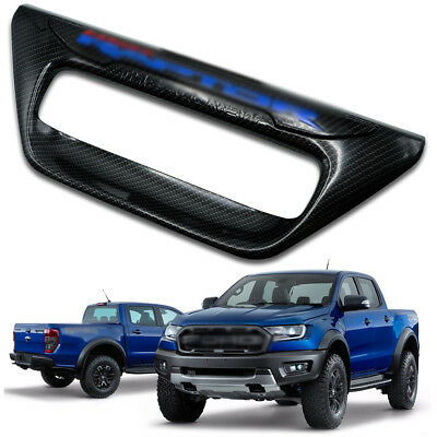For Ford Ranger Rapter 2 4Dr 2012 18 Rear Back Bowl Tailgate Cover Trim Carbon
