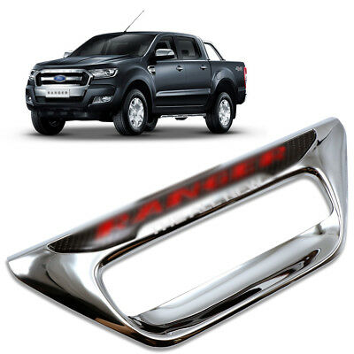 For Ford Ranger 2 4Dr 2012 15 18 Rear Back Bowl Tailgate Cover Trim Chrome