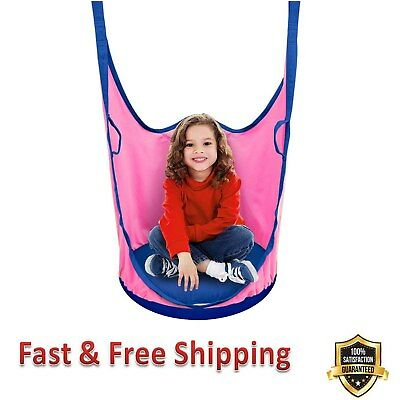 Phenomenal Kids Pod Swing Chair Nook Hanging Seat Pod Pink Hammock Nest Pabps2019 Chair Design Images Pabps2019Com