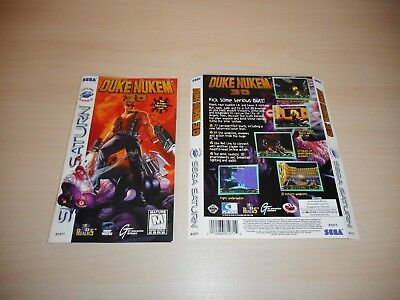 Duke Nukem 3D Sega Saturn Instruction Manual & Case Only Booklet 3-D